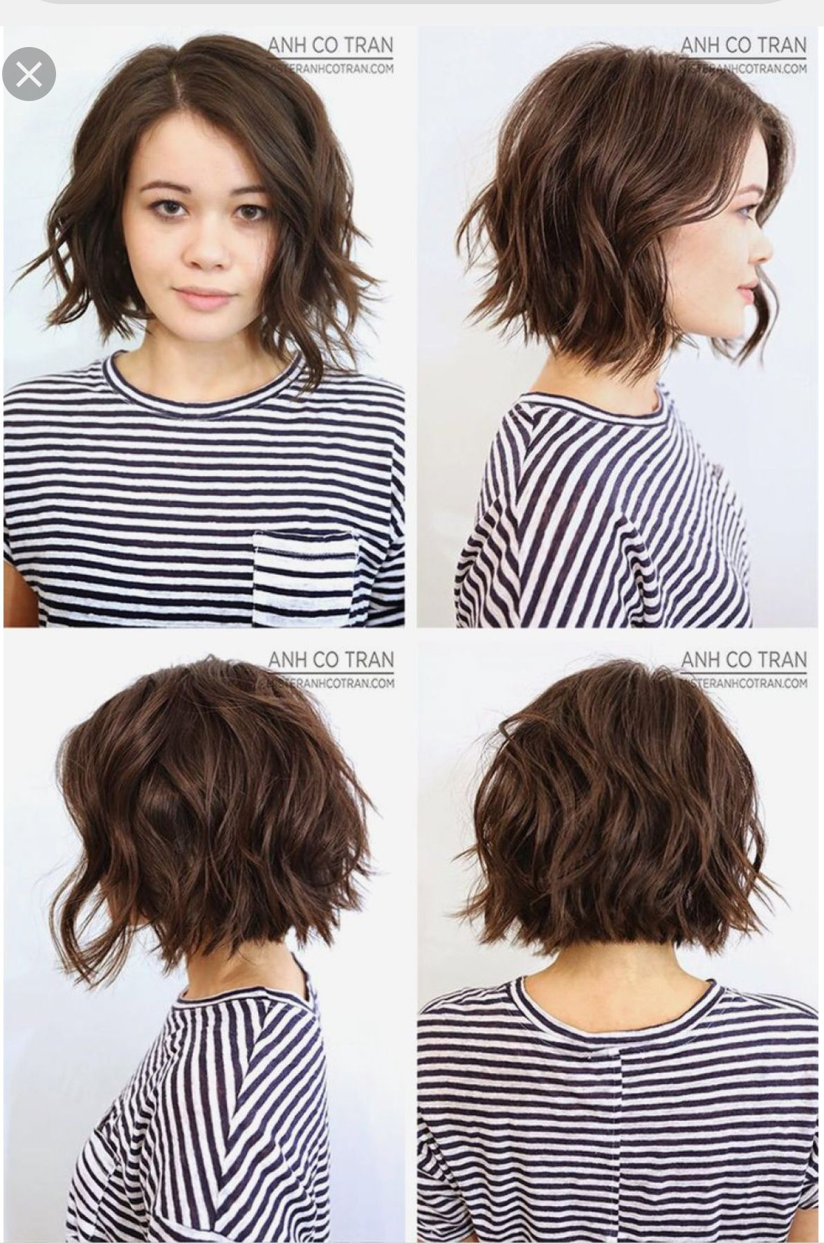 Pin By Lucie Lee On Short Hair Haircuts For Wavy Hair Wavy Bob Haircuts Thick Hair Styles