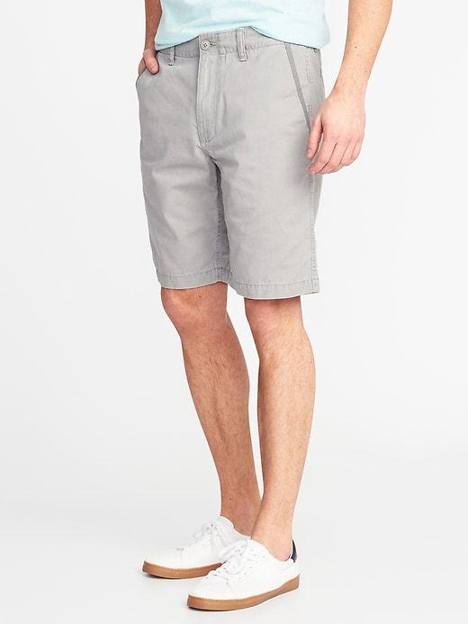 0574e28747 Old Navy Men's Lived-In Khaki Shorts - 10-Inch Inseam Earl Gray Regular  Size 34W