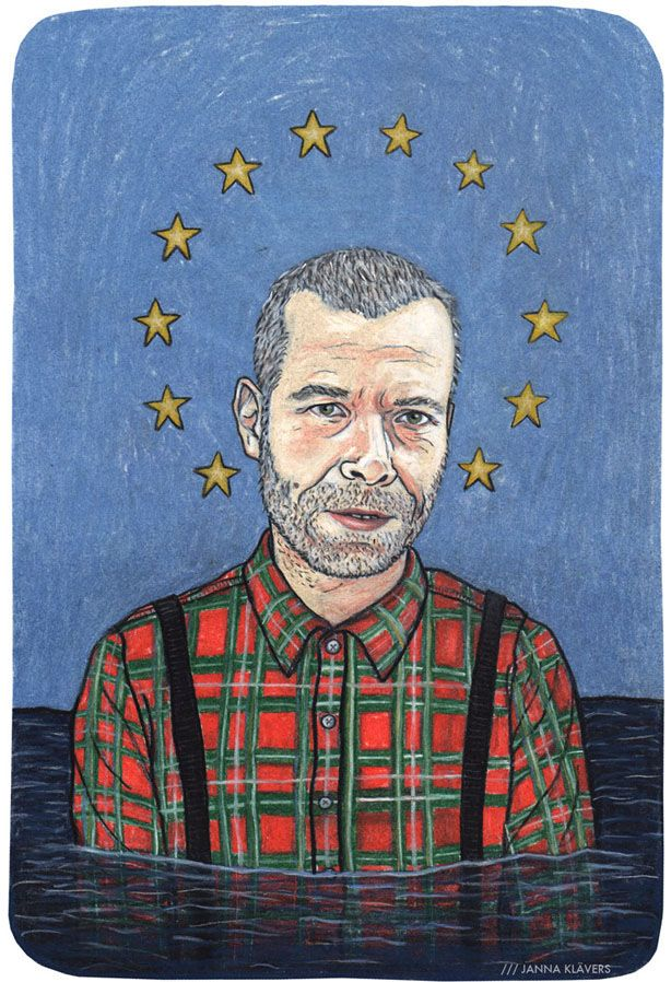 Portrait of Wolfgang Tillmans for an Interview about art and politics in the november issue of Musikexpress.