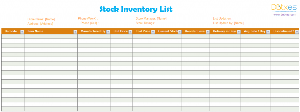 Product Price List Excel Standard  List Templates  Dotxes