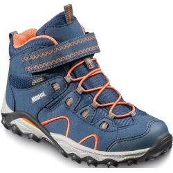 Photo of Meindl Kinder Wanderschuh Lucca Junior Mid Gtx, Größe 37 in Marine/Orange, Größe 37 in Marine/Orange