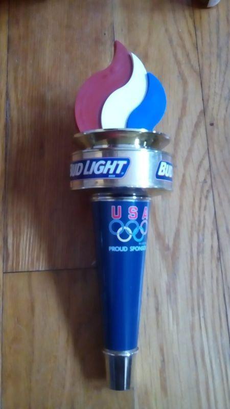 Budweiser Bud Light Usa Olympic Torch Beer Keg Tap Handle