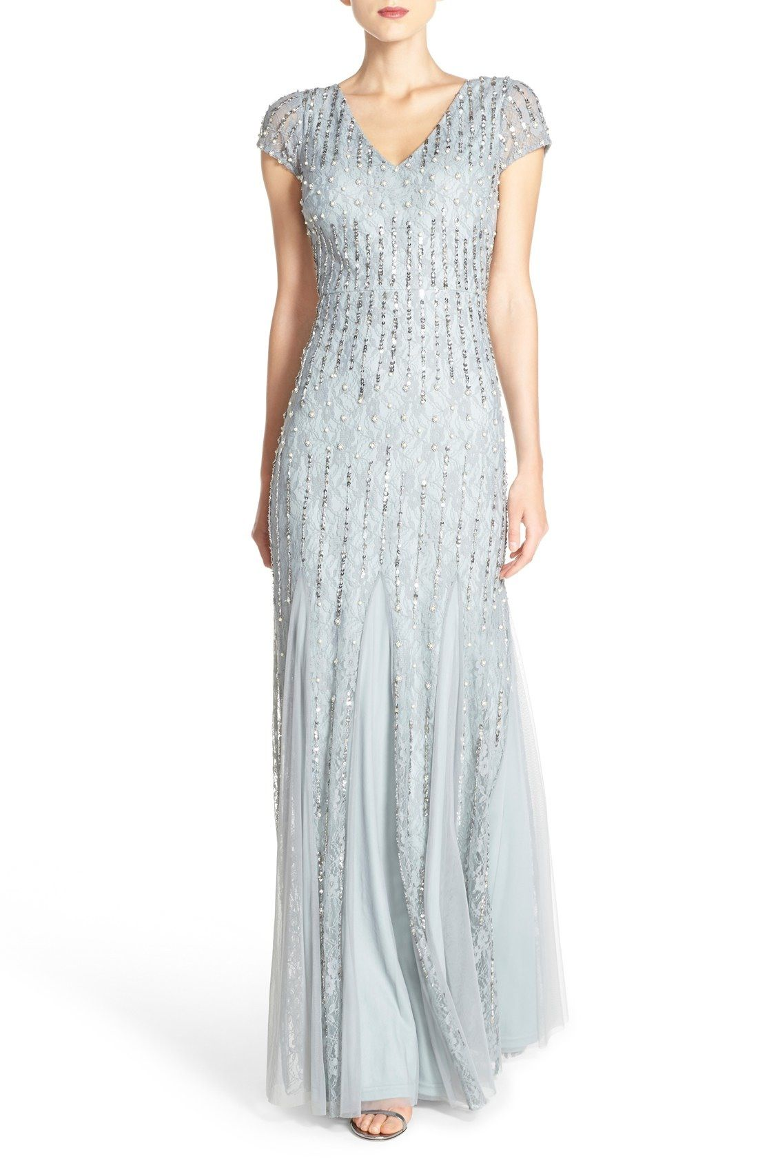 Adrianna Papell Embellished Lace Gown available at #Nordstrom ...