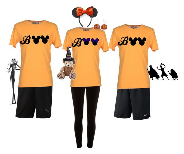 """""""Halloween at Disney"""" by castlesandcupcakes on Polyvore featuring NIKE, River Island, Groceries, Burton, Puma and 40 Colori"""