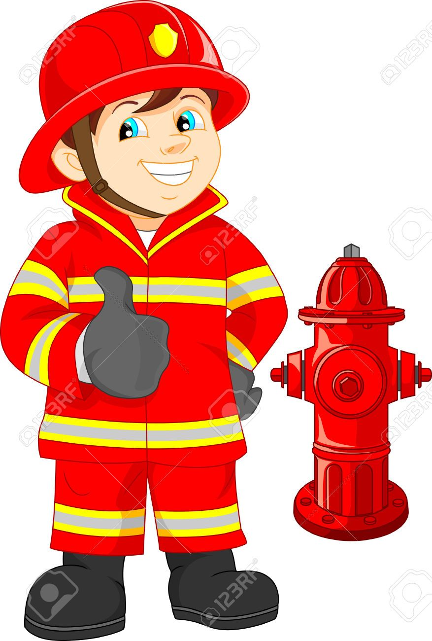 40029661 fire fighter cartoon thumb up stock vector fireman rh pinterest co uk firefighter clipart images firefighter clip art free images