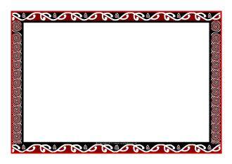 maori art themed a4 page borders