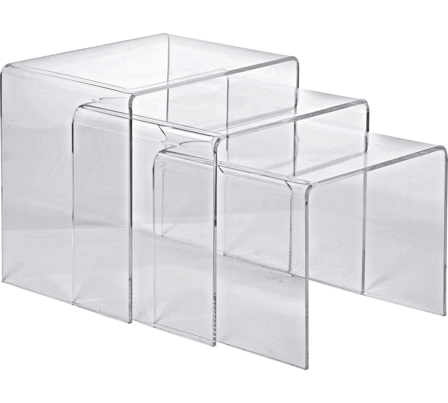 Buy Hygena Mistral Nest Of 3 Tables Clear Acrylic At Argos Co Uk Visit Argos Co Uk To Shop Online For C Argos Home Living Room Furniture Tables Coffee Table [ 1382 x 1536 Pixel ]