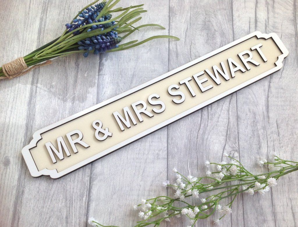 Personalised Family Name Street Sign