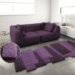Tapis Contemporain Pebbles par Angelo violet en laine   Archi ...