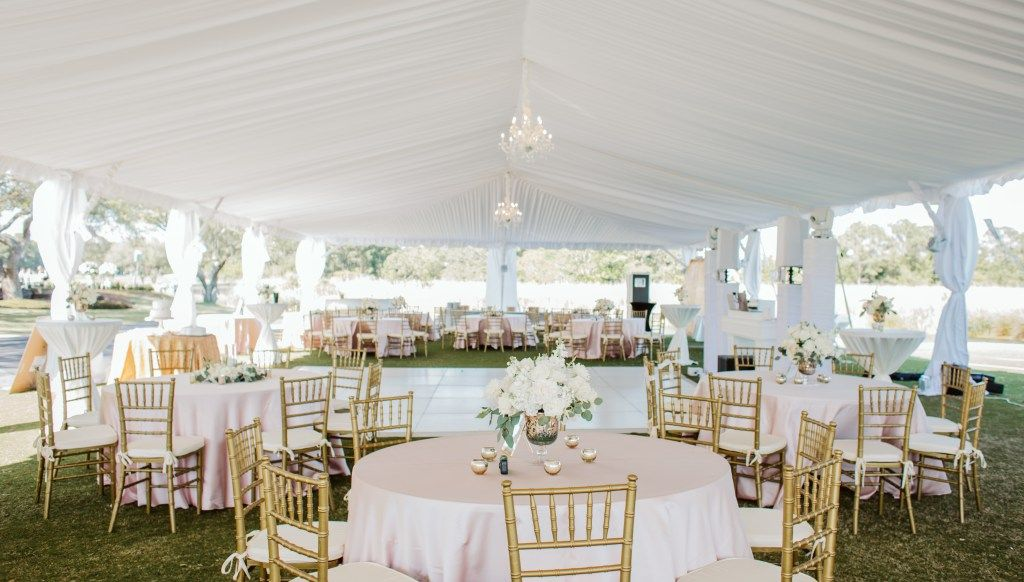 Hannah + Ben { 4.28.18 } Tent wedding, Table decorations