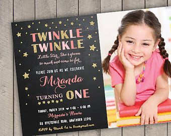 TWINKLE TWINKLE little STAR Invitation by littlebirdieprints