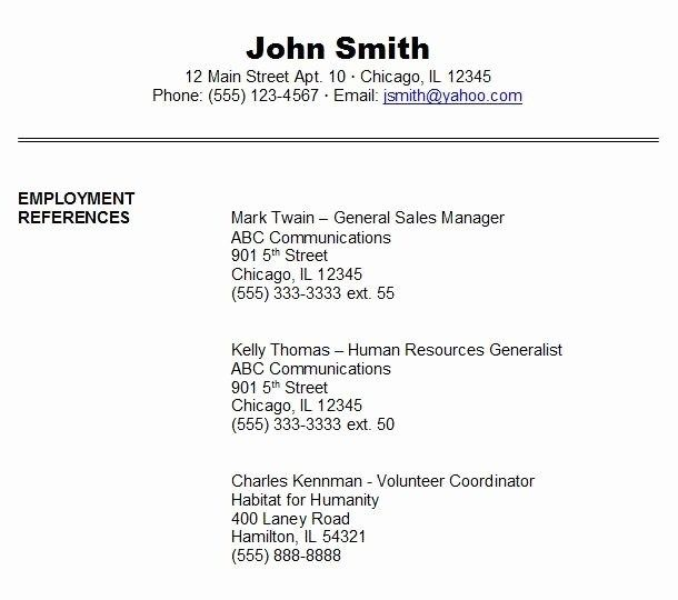 References Page For Resume Template Unique Job Reference Reference Page For Resume Job Reference Resume References