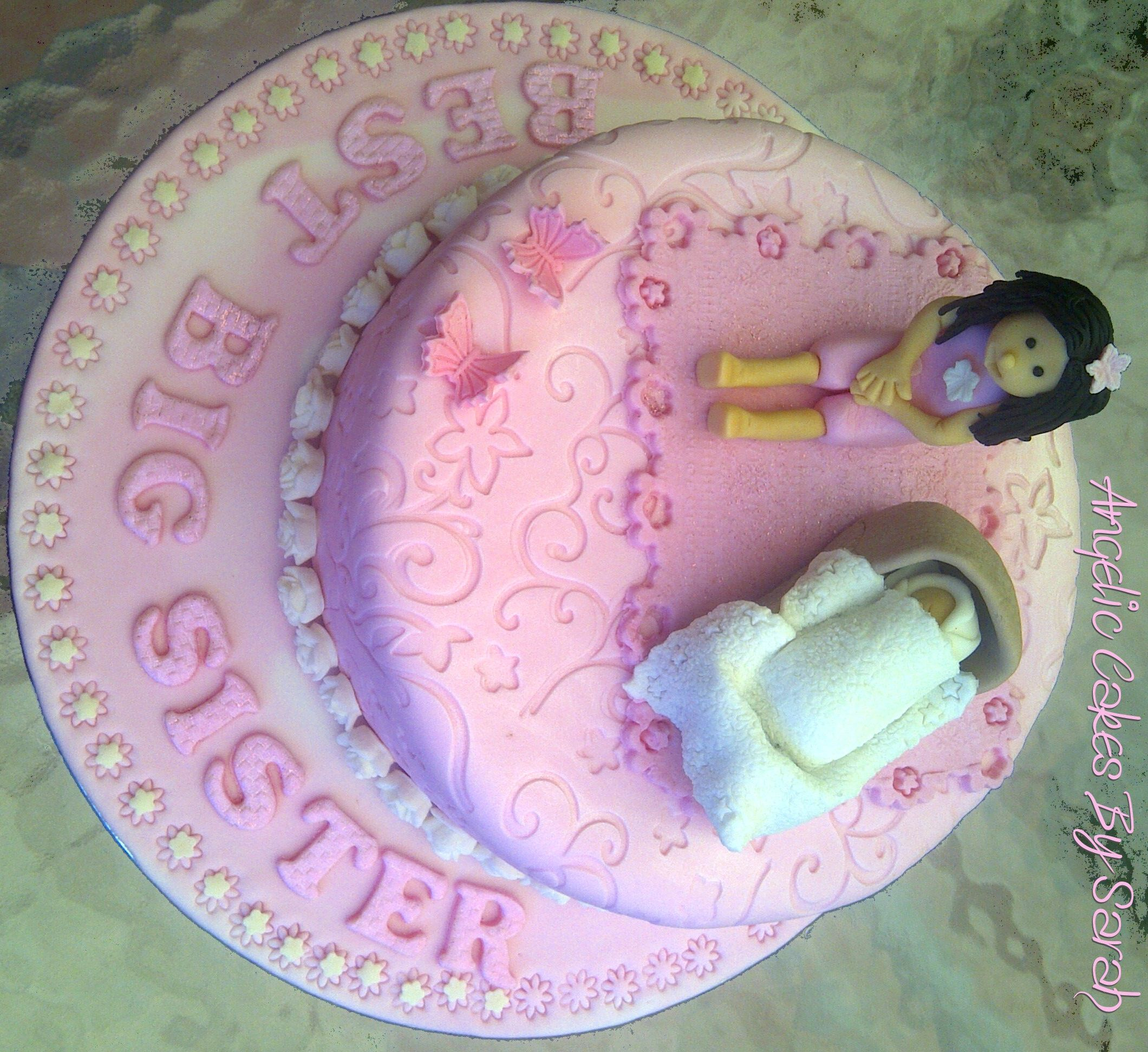Big Sister Cake Instead Of Having A Baby Shower This Clever