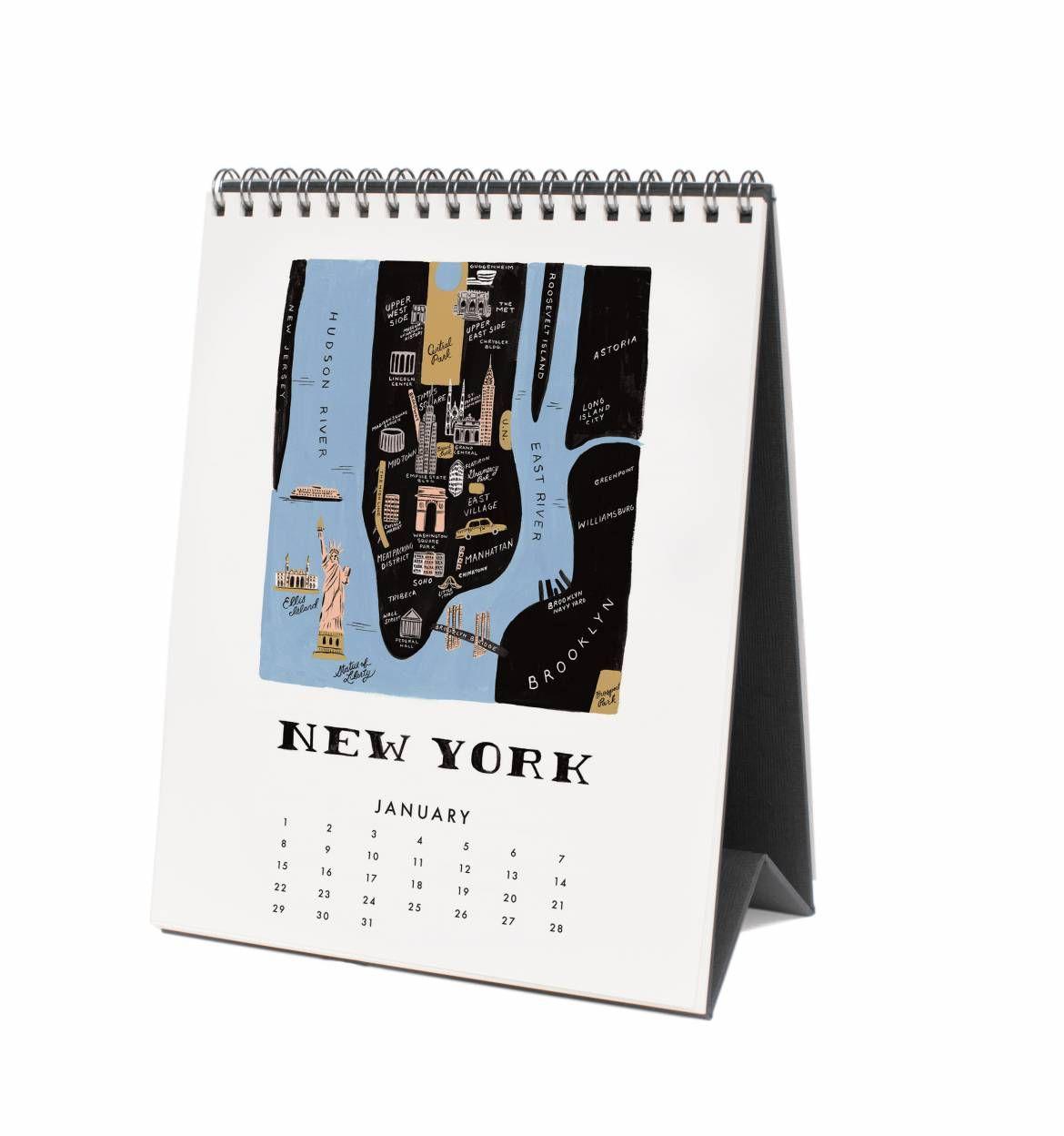 2017 maps desk calendar pinterest desk calendars and desks 2017 maps desk calendar by rifle paper co made in usa gumiabroncs Gallery