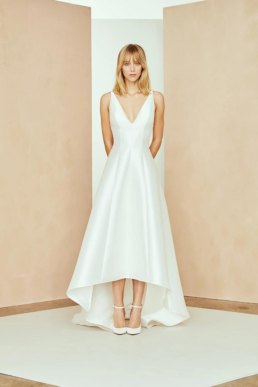 Calvin Wedding Dresses High Low Hi Low Wedding Dress Silk Wedding Dress [ 1500 x 1000 Pixel ]