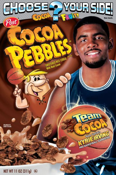 NBA s Kyrie Irving is Captain of Team Cocoa Pebbles  f92ad1b50e