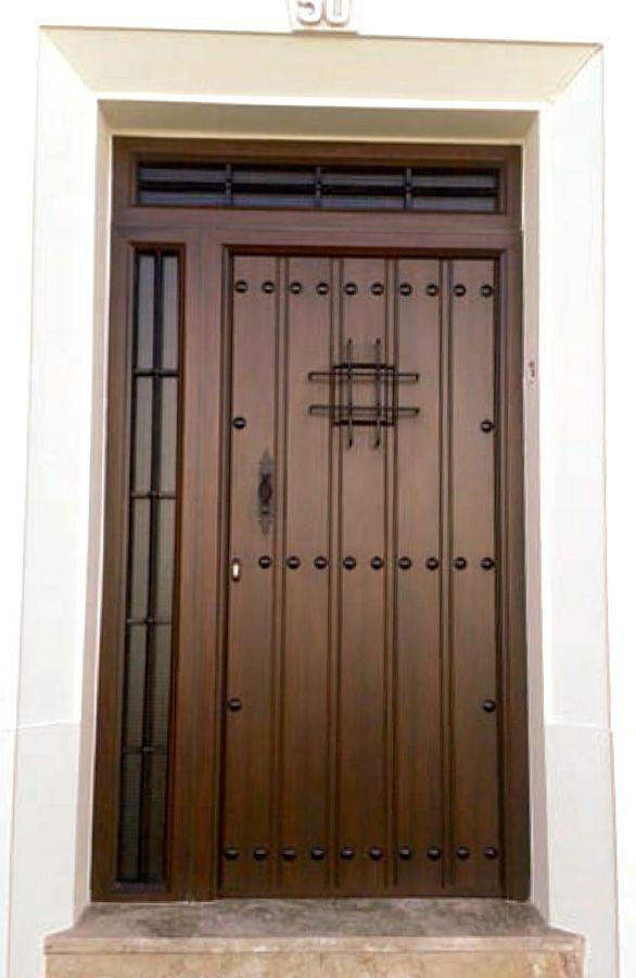 Puertas de entrada mod serran a punto aluminio - Puertas de chalet ...