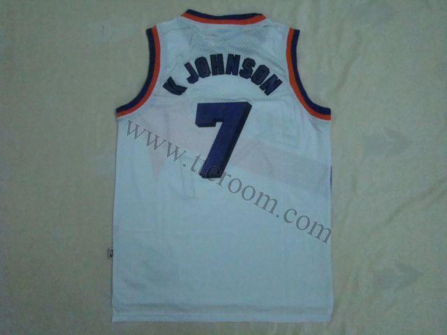 e3ba33aa9 Phoenix Suns  7 Kevin Johnson White Hardwood Classic Jersey