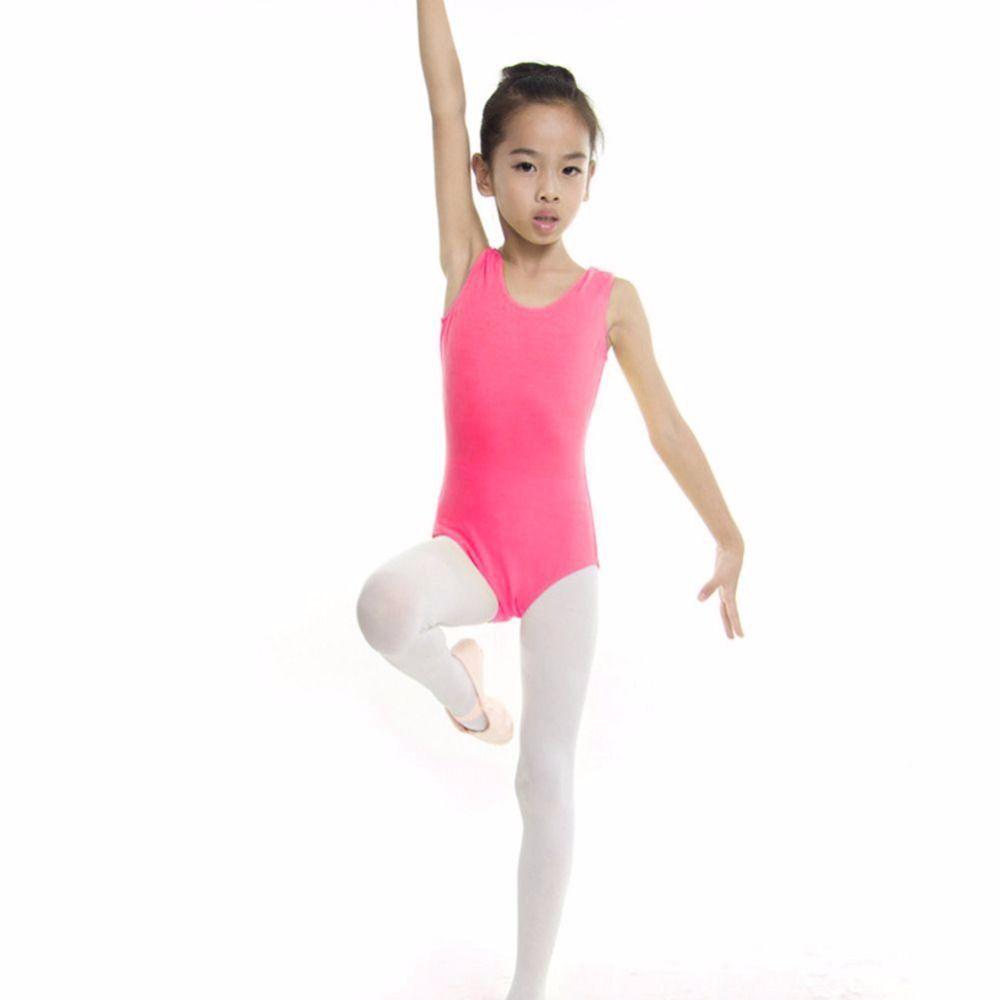 Girls Kids Dance Leotard Outfit Ballet Jazz Gymnastics Tops Dancewear Costume