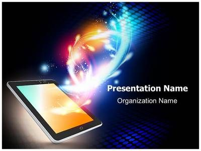 mobile media tablet powerpoint template is one of the best, Presentation templates