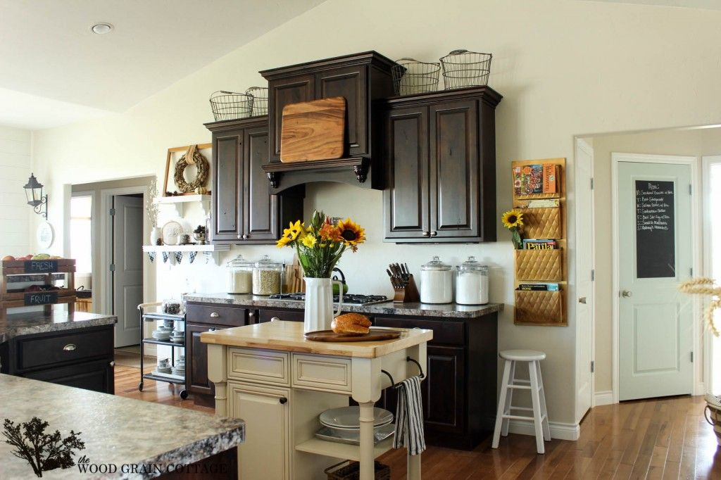 How I Found My Style Sundays- The Wood Grain Cottage | Espresso cabinets, Espresso kitchen ...