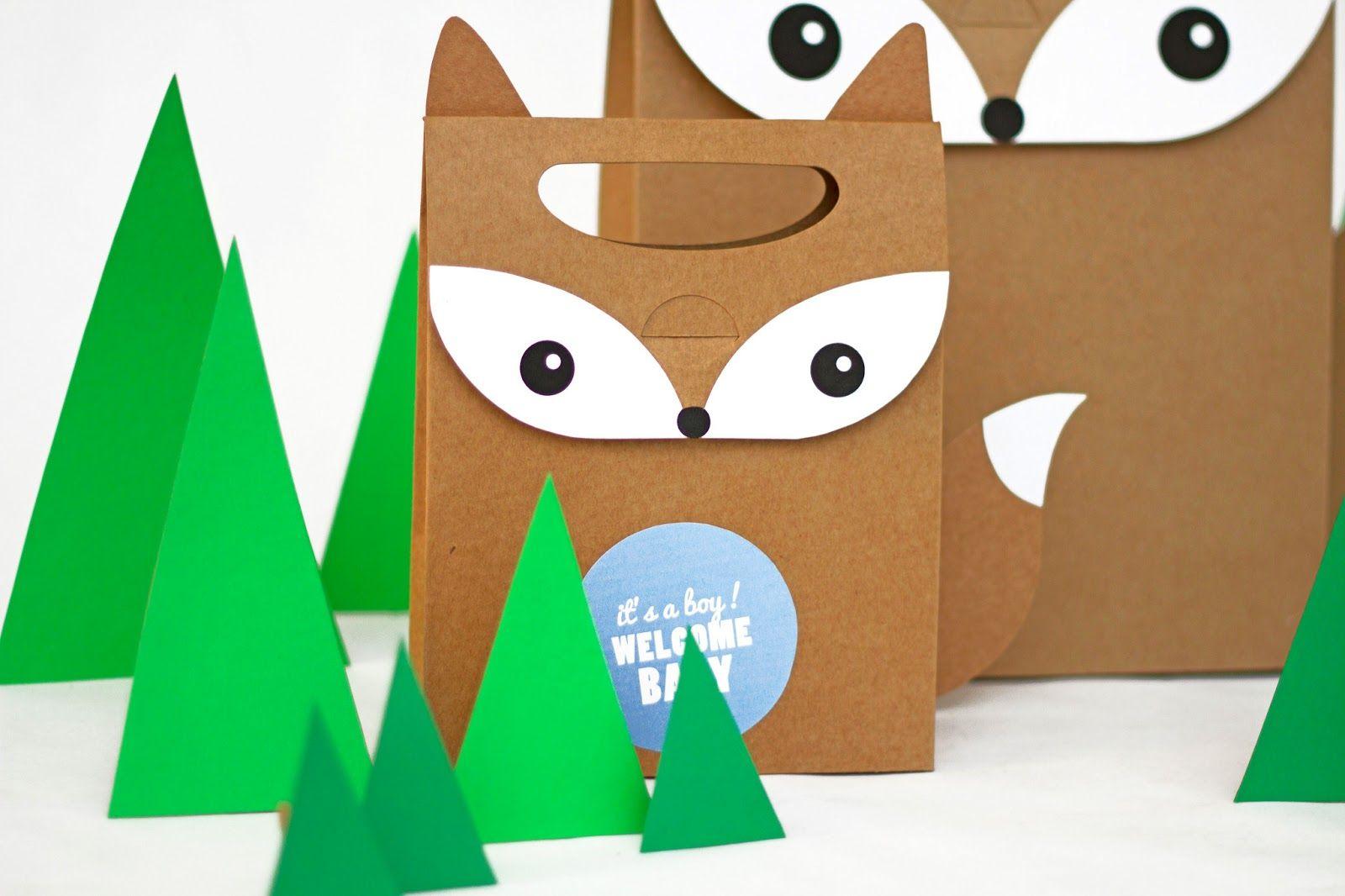 cajita zorro de cartón descargable gratis freebie selfpackaging self packaging selfpacking