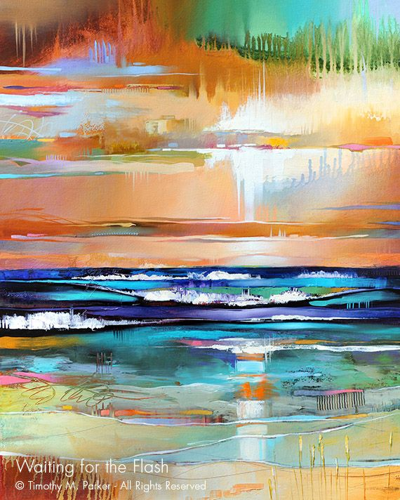 Waiting For The Flash Abstract Seascape Fine Art Print In 2020