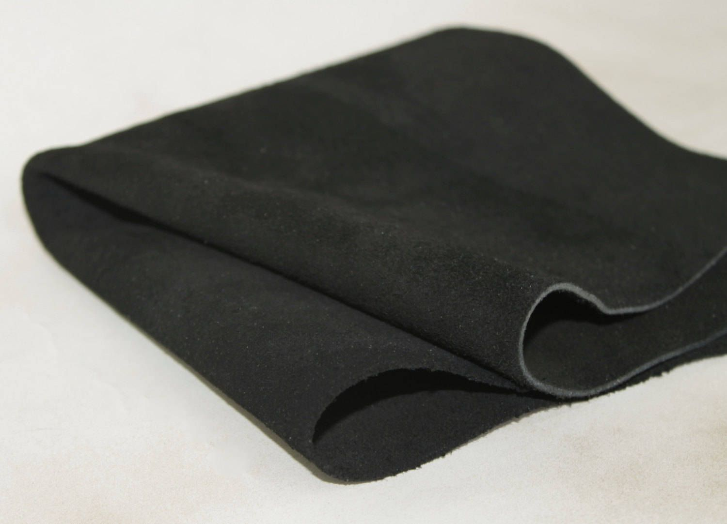 Black Suede  Genuine Leather by JLLeatherSupplies on Etsy
