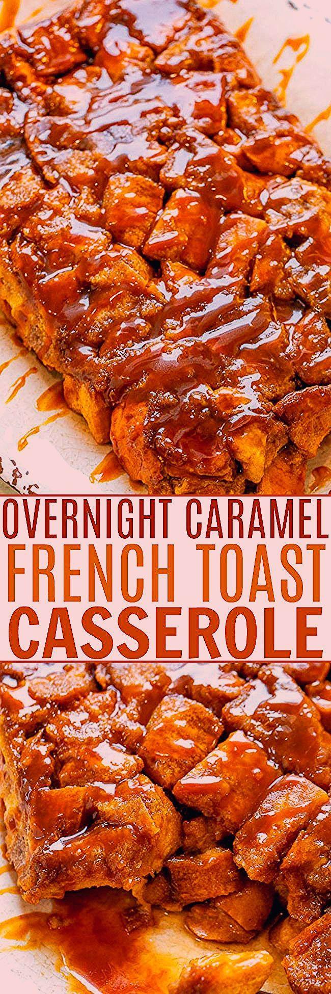 Über Nacht Karamell French Toast Auflauf  Breakfast