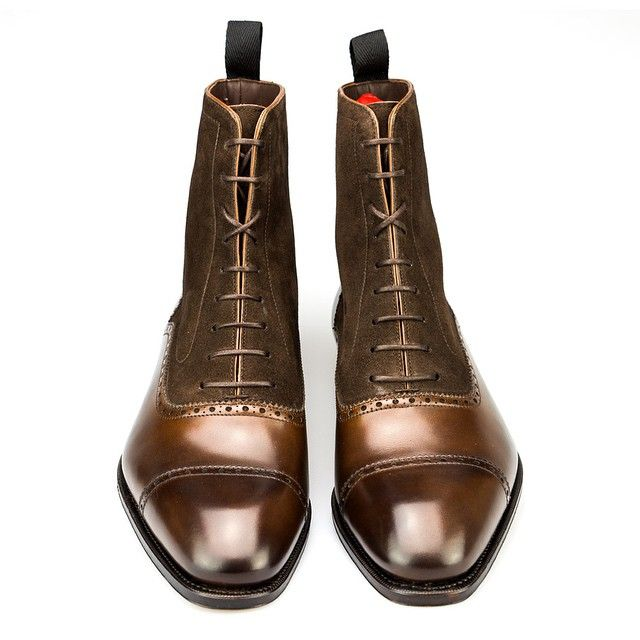 Brown Vegano Leather Jodhpur Boots Carmina Shoemaker