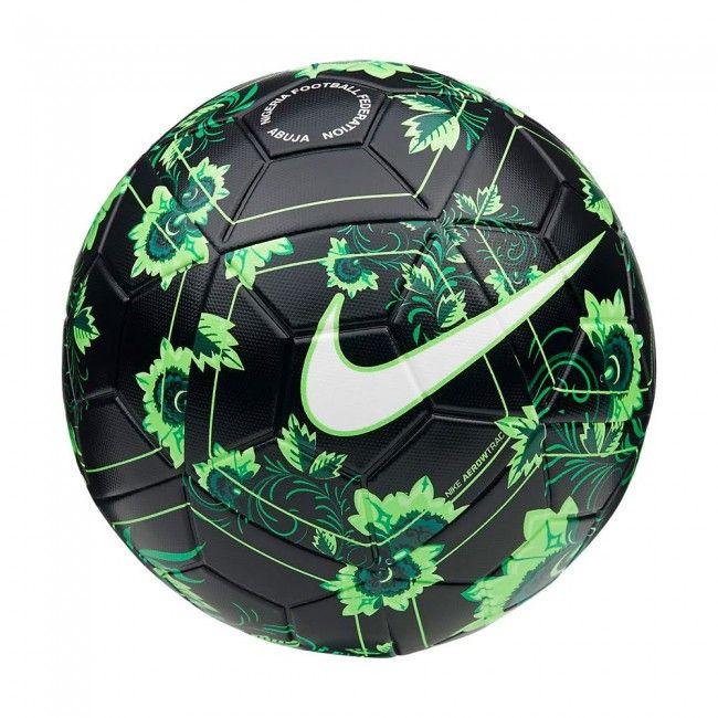 6ec4b9cda036b Football Nike Balón de fútbol Nigeria Magia 2018-2019 - Negro verde (talla  5)  pelota  balon  football  ballon  palla  calcio  futbol  ball  fussball    ...