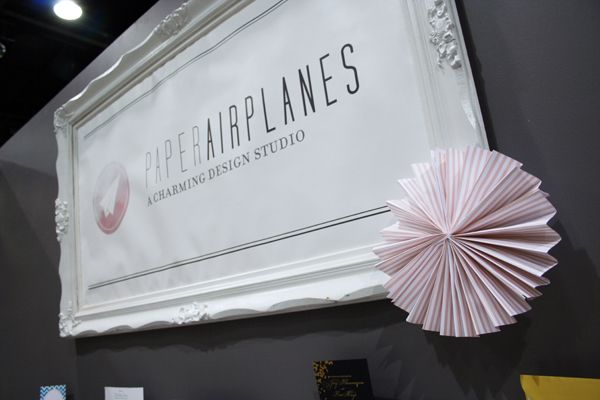 Paper Airplanes #wedding #booth #exhibit #stationery