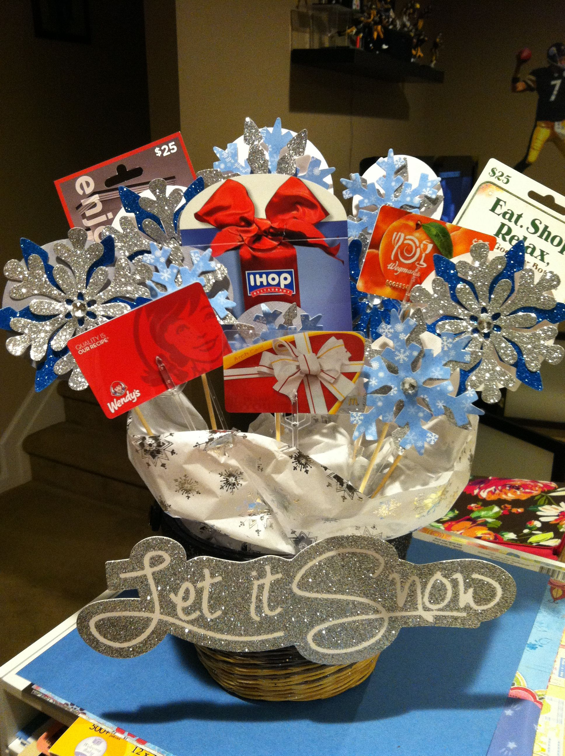 Gift card bouquet wanted to do more wintery instead of gift card bouquet wanted to do more wintery instead of negle Choice Image