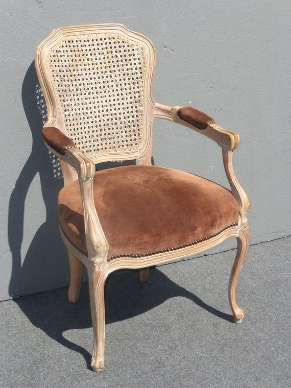 Fantastic Vintage French Provincial Style Carved Wood Brown Cane Back Ncnpc Chair Design For Home Ncnpcorg