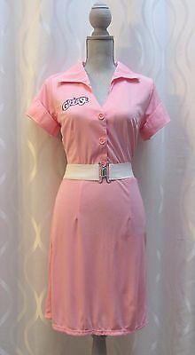NEW-GREASE-Frenchie-Womens-Halloween-Classic-Movie-Costume-Dress-Belt-SZ-M-L