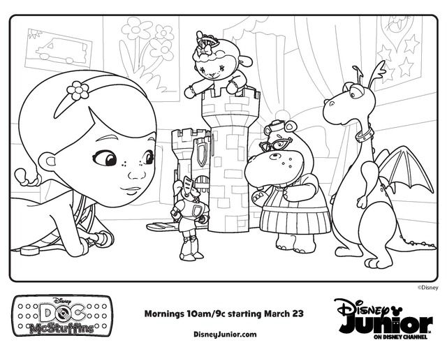 Doctor McStuffins Coloring Pages | Doc McStuffins playroom - Free ...
