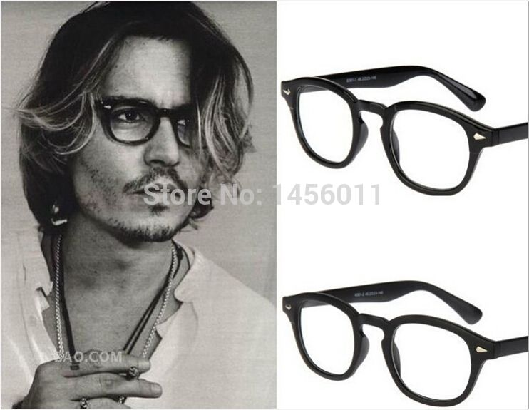 2374f9c7ac 2017 Fashion Top Johnny Depp Glasses Men Women Retro Vintage Optical  Eyeglasses Myopic Glasses Frame Oculos de grau W63001