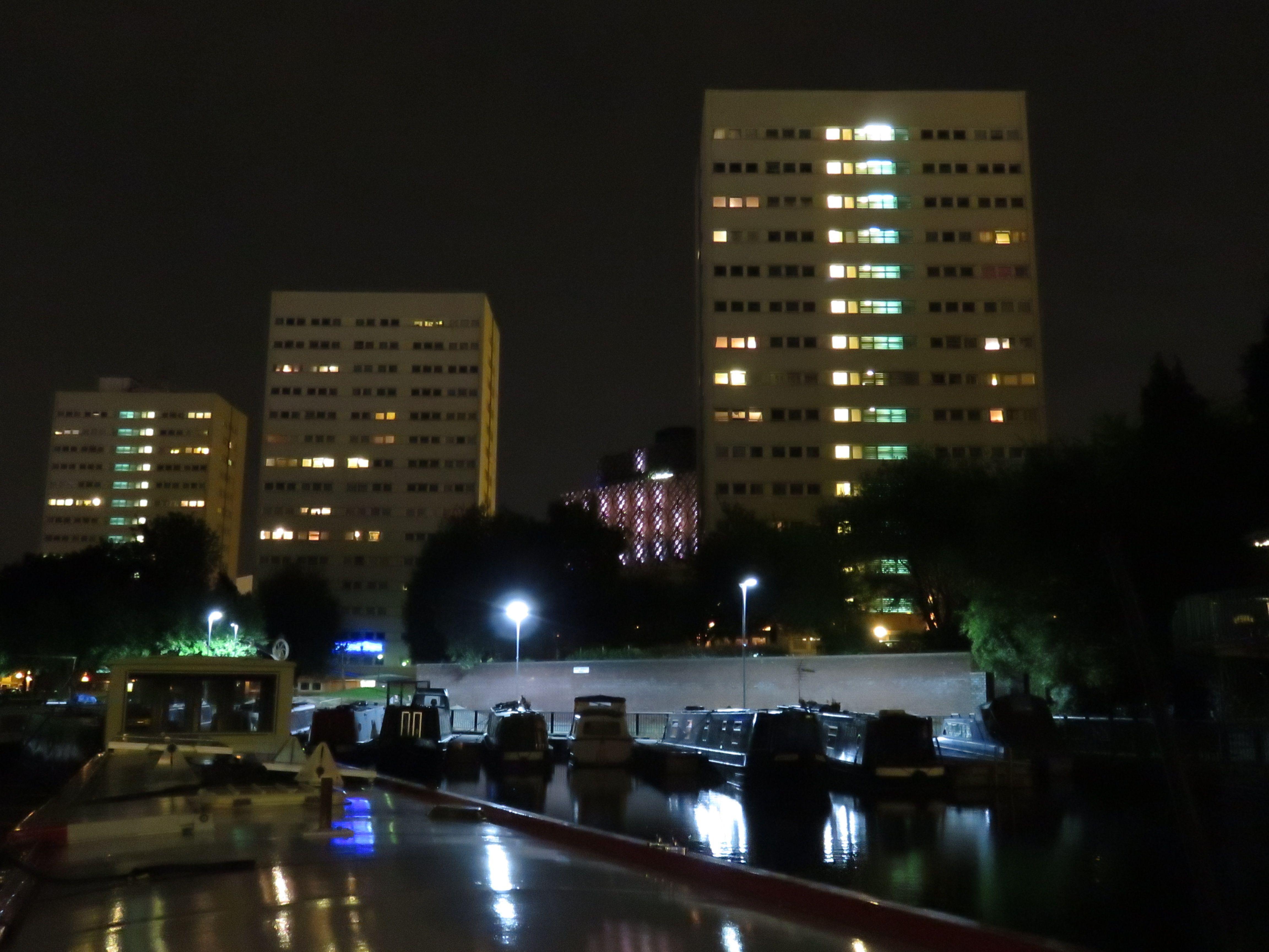 Birmingham's Cambrian Wharf at night