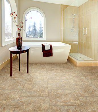 Re Bath Omaha Uses Duraceramic Tile Flooring With Scotchguard For Their Tile Floor Option This In 2020 Flooring Options Luxury Vinyl Tile Flooring Vinyl Tile Flooring