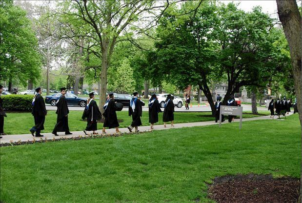 Class of 2012 marching to the ceremony.