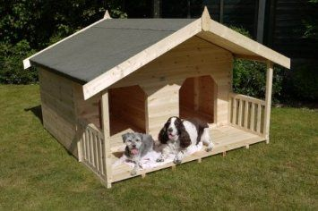 Luxury Double Dog Kennel Summerhouse For 2 Large Dogs Unique