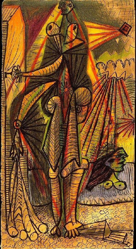 Pablo Picasso - Bathers, 1938 Baigneuses à la cabine