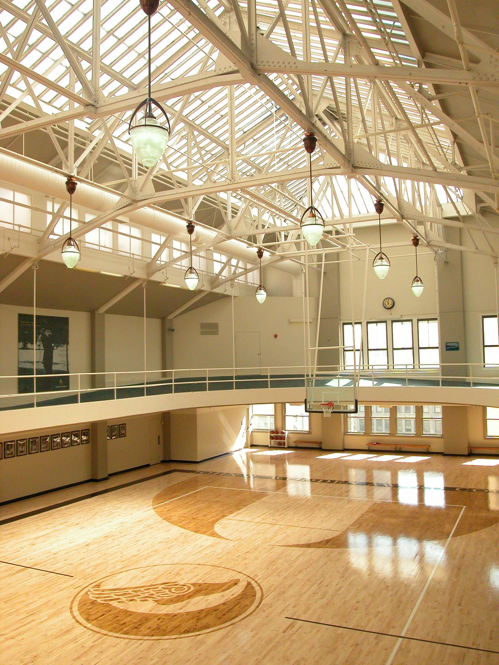 The John R Wooden Award Court In The Los Angeles Athletic Club Is The Permanent Home Of The Annual John Wooden Award Home Gym Design Wooden Award At Home Gym