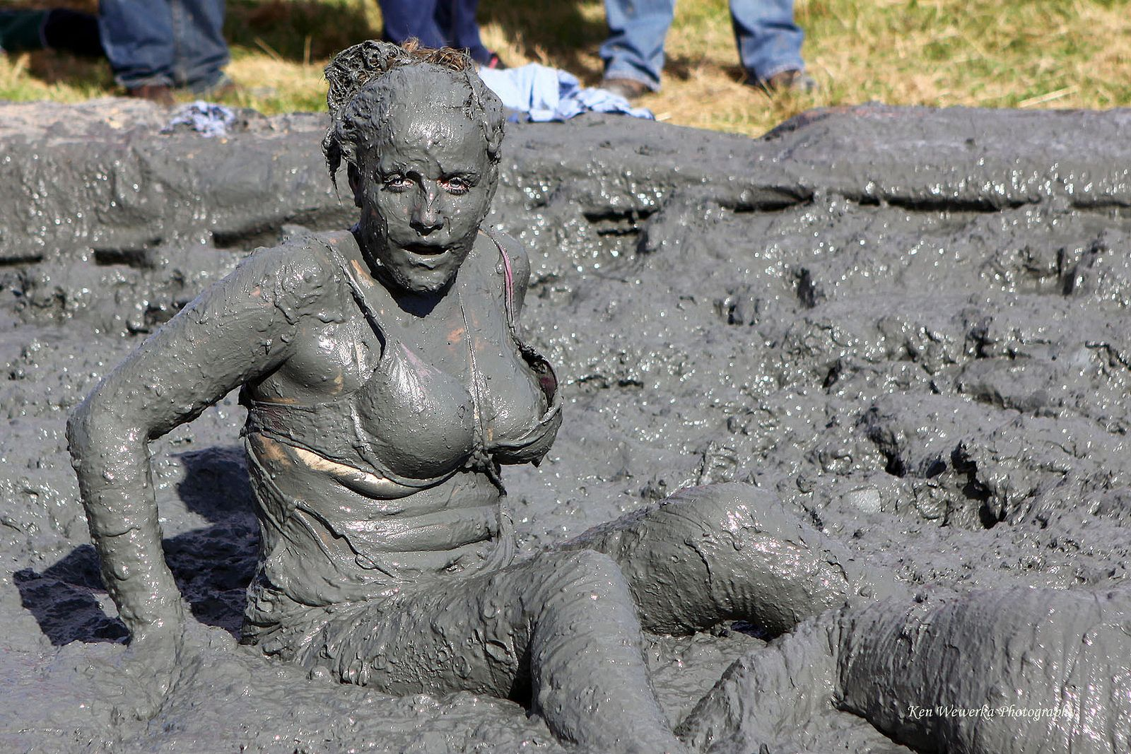 Mud wresting girls
