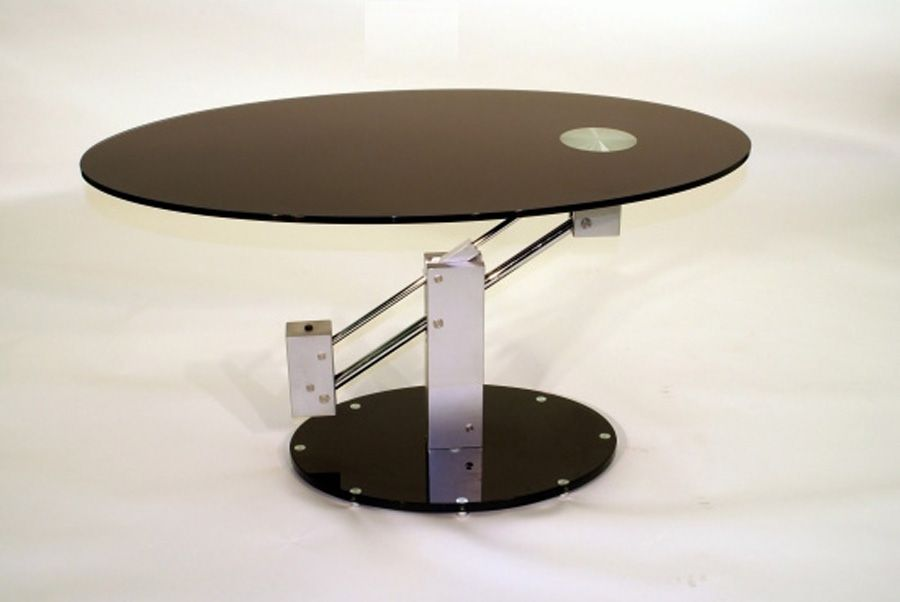 round adjustable height coffee table emotion expandable and dining extending hyatt fulton industrial d