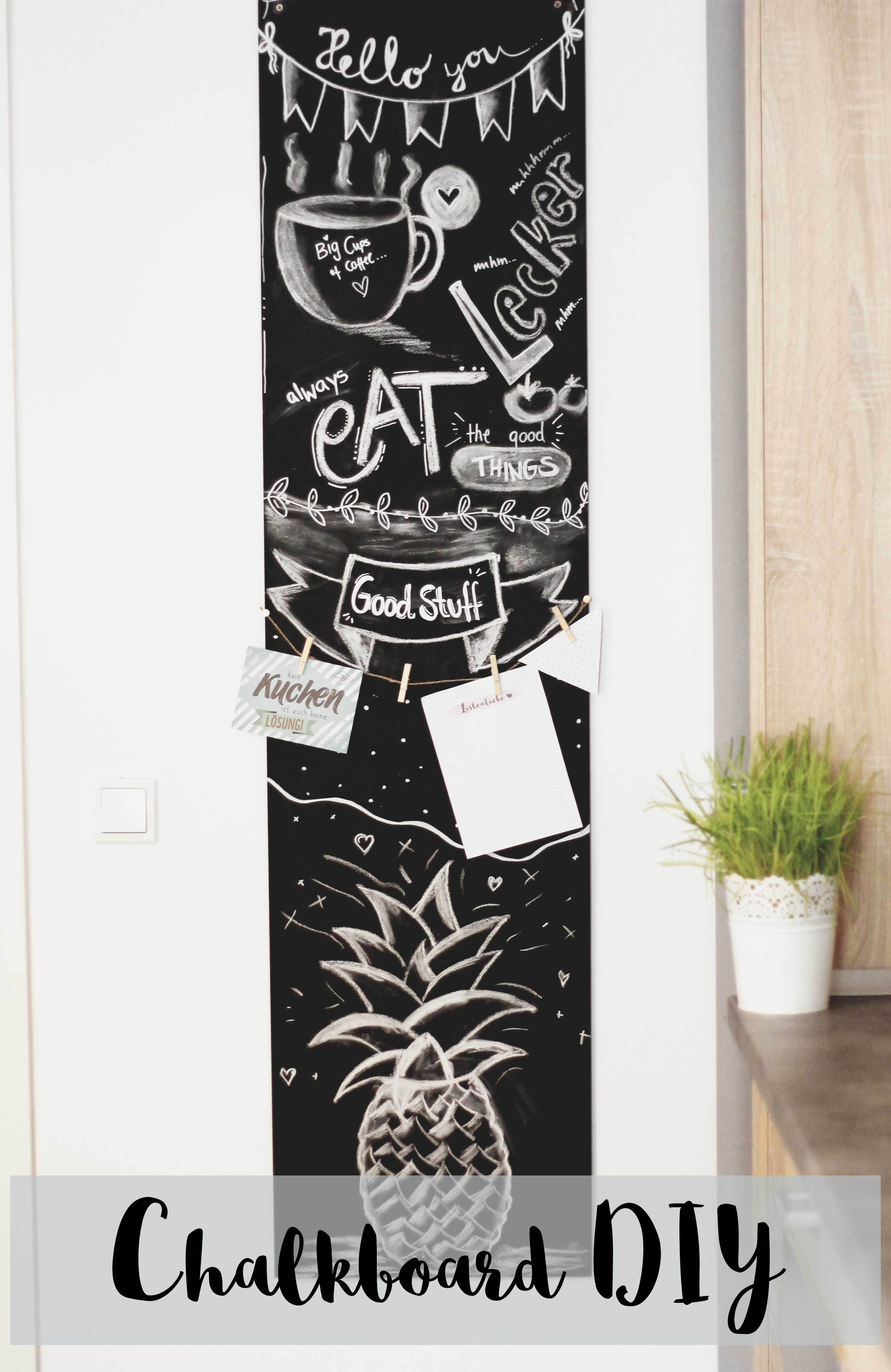 chalkboard diy tafel deko f r unter 20 inspirationen tafel blickfang und super. Black Bedroom Furniture Sets. Home Design Ideas
