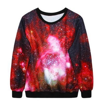 Adogirl Winter Autumn Hoodies 3D Galaxy Space Print Punk Women Fashion Pullover Round Neck Sweatshirt Women Men 10 Models