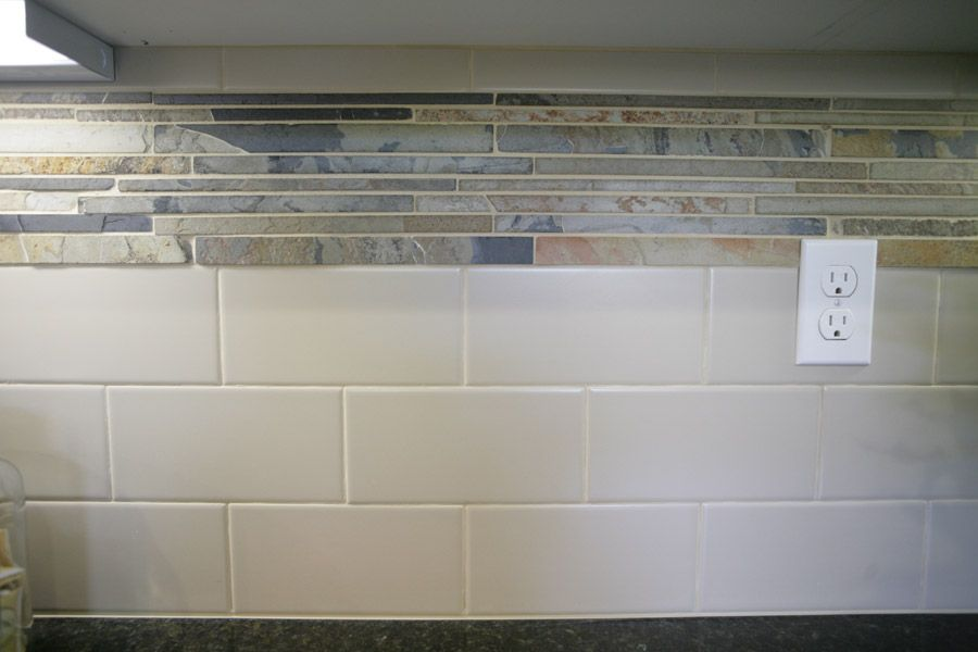excellent dimensions of subway tile.  Res 3 UPGRADED KITCHEN TILE BACKSPLASH We smartly paired the standard Verde