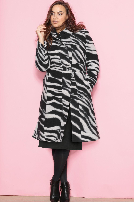 Mantel, Wollmischung, Zebra Design, selection | Mode, Damen