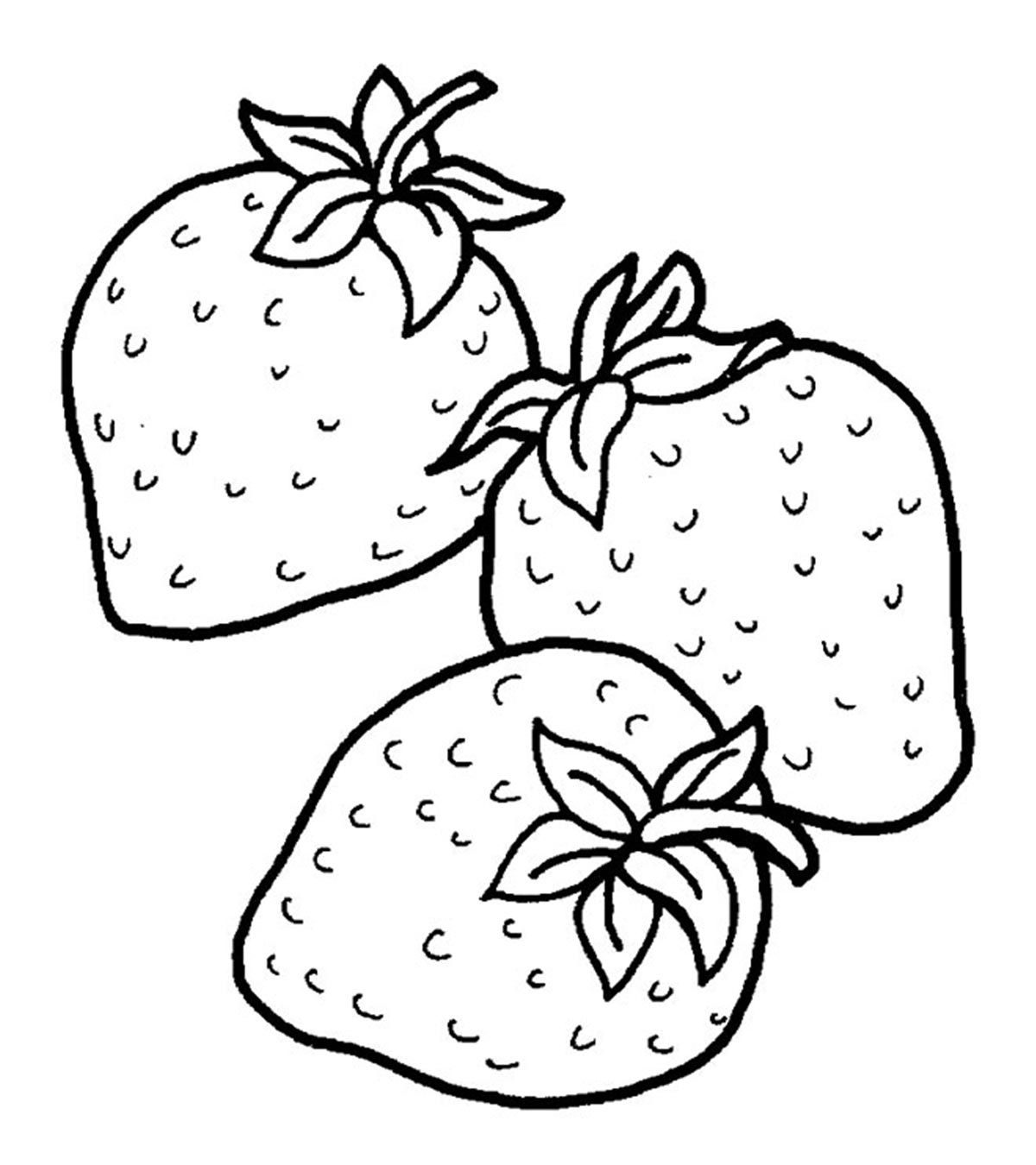 Top 15 Strawberry Coloring Pages For Your Little One